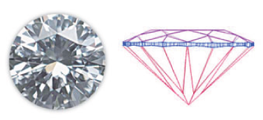 Heart loose diamond