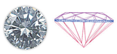 Cushion loose diamond