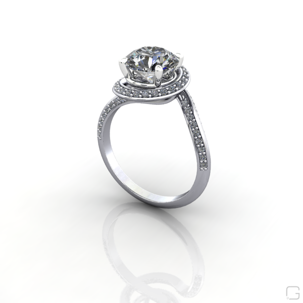 build ring in solitaire own rings nile trellis platinum jewellery rd setmain your blue engagement sg