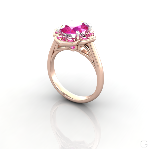 d98f24c532be7d vintage pink sapphire engagement rings oval pink sapphire | R888 ...