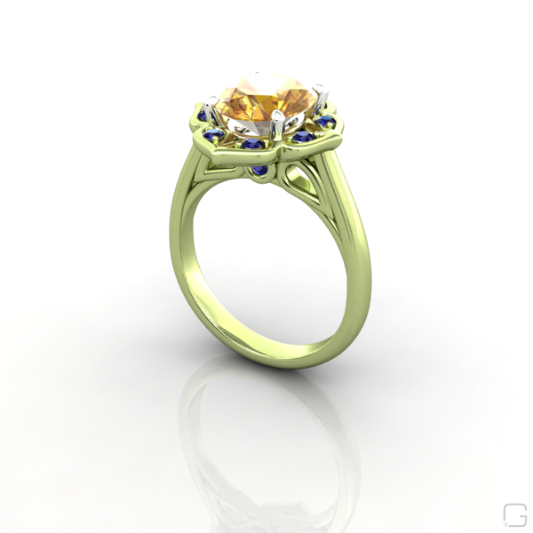 vintage yellow sapphire engagement ring oval yellow. Black Bedroom Furniture Sets. Home Design Ideas