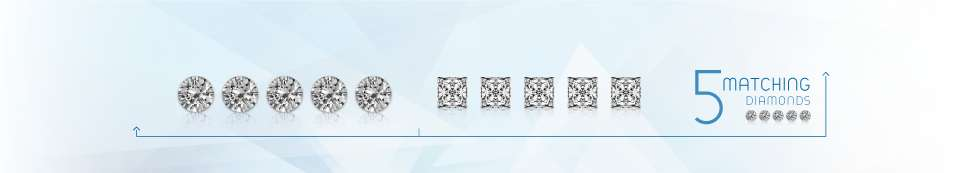 five matching diamonds