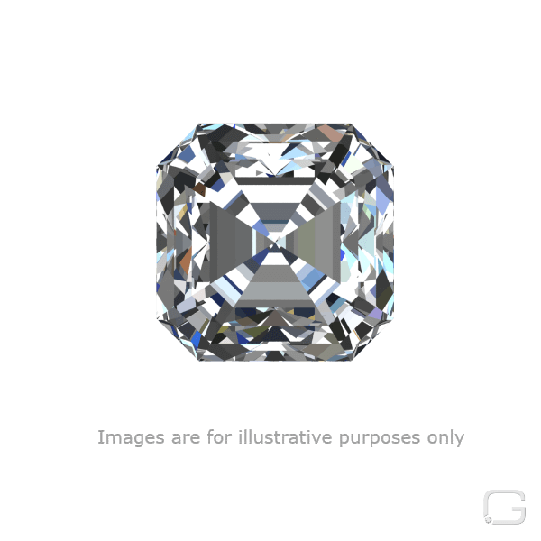 Asscher H diamond