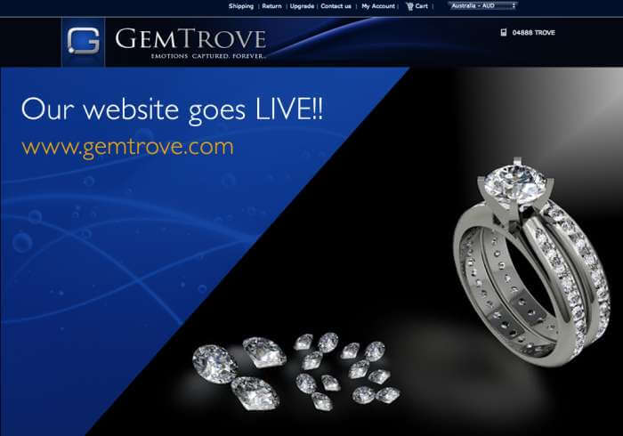 GemTrove launches its responsive jewelry website
