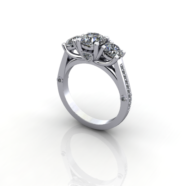 Preset diamond rings